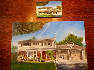 Painting of clients home for over 39 years, moving to Georgia and wanted a memory!